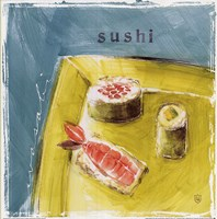 "Sushi by Lauren Hamilton - 12"" x 12"""