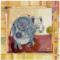 """Playful Elephant by Robbin Rawlings - 12"""" x 12"""""""