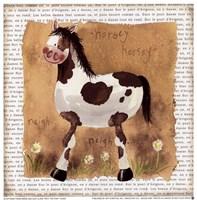 """Spot the Pony by Alex Clark - 7"""" x 7"""""""
