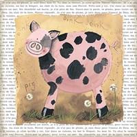 """Spot the Pig by Alex Clark - 7"""" x 7"""""""