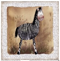 Zebra on Safari Fine Art Print