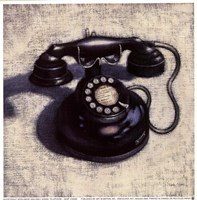 "Telephone - Noir by Emily Adams - 7"" x 7"" - $9.99"