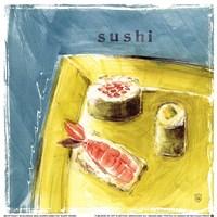 "Sushi by Lauren Hamilton - 7"" x 7"""