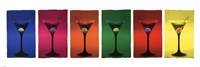 "Martini Glasses Pop Art by Angela Ferrante - 36"" x 12"""