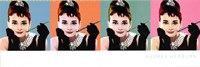 "Audrey Hepburn Pop Art by Angela Ferrante - 36"" x 12"""