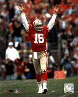 Joe Montana - celebrating touchdown Framed Print
