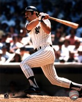 Thurman Munson - batting Fine Art Print
