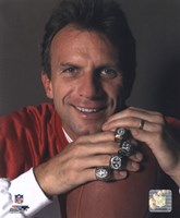 Joe Montana -4 Super Bowl Rings Fine Art Print