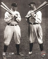 Ty Cobb and Shoeless Joe Jackson Framed Print