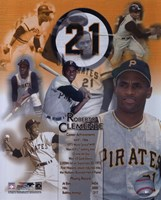 Roberto Clemente - Legends of the Game Composite Fine Art Print