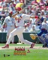 Albert Pujols 2001 National League Rookie of the Year Fine Art Print