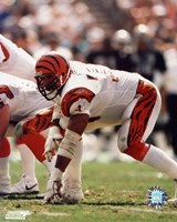 Anthony Munoz - In three point stance Fine Art Print