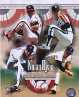 Nolan Ryan - 4 Team Career H.O.F. Composite Framed Print
