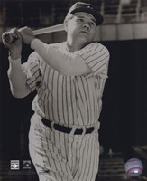 Babe Ruth -Bat over shoulder, posed sepia Fine Art Print