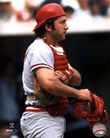 "Johnny Bench - Holding catchers mask by Angela Ferrante - 8"" x 10"""