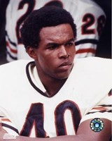 Gale Sayers - Close up, sidelines Fine Art Print