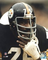 Joe Greene - Close up on sidelines Framed Print