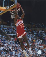 """Dominique Wilkins - Dunking Action by Angela Ferrante - 8"""" x 10"""""""