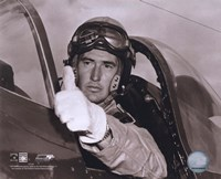 Ted Williams - Fighter Pilot (sepia) Fine Art Print