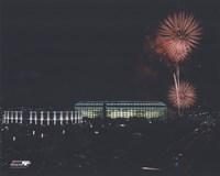 Veterans Stadium - Nightshot, with fireworks Fine Art Print