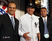 "Alex Rodriguez - Signing Press Conference with Joe Torre & Derek Jeter by Angela Ferrante - 10"" x 8"""