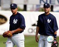 "A.Rodriguez and D.Jeter - 2004 Spring Training by Angela Ferrante - 10"" x 8"""