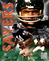 Gale Sayers -LEGENDS COMP. Fine Art Print