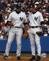 "A. Rodriguez / D. Jeter - Vertical/Pinstripes by Angela Ferrante - 8"" x 10"""