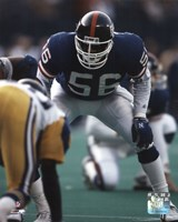 Lawrence Taylor - Defensive Stance Fine Art Print