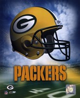 Green Bay Packers Helmet Logo Fine Art Print