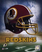 Washington Redskins Helmet Logo Fine Art Print