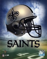New Orleans Saints Helmet Logo Fine Art Print