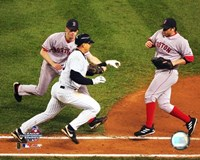 Alex Rodriguez being tagged out by Bronson Arroyo in game 6 of the '04 ALCS Fine Art Print