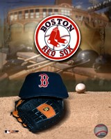 Red Sox - '04 Logo & Cap Fine Art Print