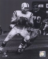 Johnny Unitas - Passing Action (B&W) Fine Art Print