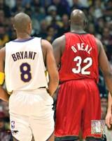 Shaquille O'neal - Kobe Bryant - Heat / Lakers Fine Art Print