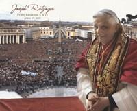 "Pope Benedict XVI - Horiz.(Crowd) by Angela Ferrante - 10"" x 8"""