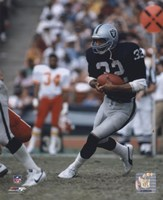 Marcus Allen - Black Uniform With Ball Fine Art Print