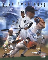 "Alex Rodriguez 2005 - Composite by Angela Ferrante - 8"" x 10"""