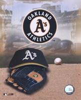 "Oakland Athletics - '05 Logo / Cap and Glove by Angela Ferrante - 8"" x 10"""