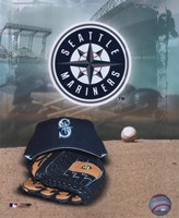 Seattle Mariners - '05 Logo / Cap and Glove Fine Art Print