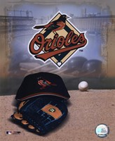 Baltimore Orioles - '05 Logo / Cap and Glove Fine Art Print