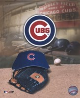 Chicago Cubs - '05 Logo / Cap and Glove Framed Print