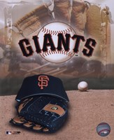 San Francisco Giants - '05 Logo / Cap and Glove Fine Art Print