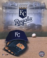 Kansas City Royals - '05 Logo / Cap and Glove Fine Art Print