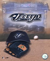 Toronto Blue Jays - '05 Logo / Cap and Glove Fine Art Print