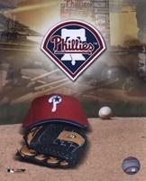Philadelphia Phillies - '05 Logo / Cap and Glove Fine Art Print
