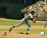 "Phil Niekro - Pitching Action by Angela Ferrante - 10"" x 8"", FulcrumGallery.com brand"