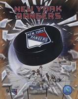 New York Rangers 2005 - Logo / Puck Fine Art Print