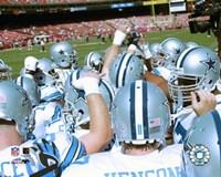 2005 - Cowboys Hudddle #2 Fine Art Print